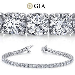 18 ct Round Diamond Tennis Bracelet White Gold GIA F - G VS2 SI1 0.60 - 0.65 ct