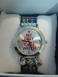 MIXIT quot;My Ugly Xmas Watchquot; Novelty Women#x27;s Watch Fun design JCpennys NEW $14.99