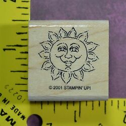 SMILING SUN spring summer sunshine warm tropical beach sky rubber stamp $1.44