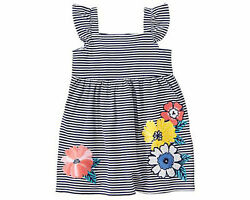 NWT Gymboree Tropical Breeze Striped Flower Dress 2T 3T 4T Toddler Girls