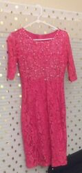 pink lace dresses for women $40.00