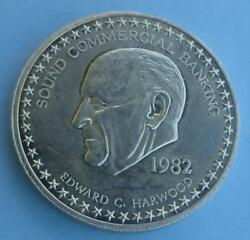 1982 Sound Commercial Banking Edward Harwood 1 Ounce .999 Fine Silver Round $27.71