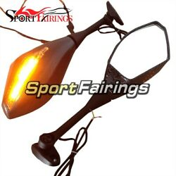 Motorcycle LED Turn Signal Integrated Side Mirrors For Honda CBR600RR 2007 2008