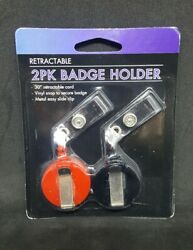 2 Retractable Badge Holder - 30