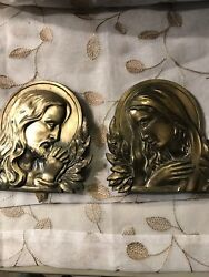Antique Jesus Mary Metal Wall Decorations $49.90