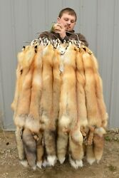 "Tanned Red Fox Winter ""Heavy Fur"" Western XL Pelt Hide Medium Grade rfwhmg $49.95"