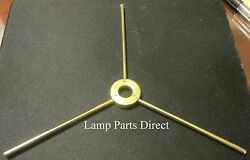 1 3 way Steel Brass Plated Spider for Stained Glass Lamp Construction $3.75