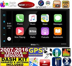 FITS FOR 07 16 TUNDRA SEQUOIA NAVIGATION APPLE CARPLAY ANDROID AUTO STEREO PKG $299.99