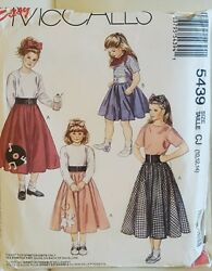Mccalls Girls Poodle Skirt Sewing Pattern size 10 12 14 New $9.95