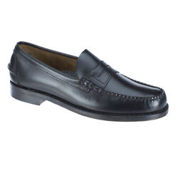 NEW - SEBAGO HANDSEWNS Men's CLASSIC LEATHER Black PENNY LOAFERS SHOES -  9 D