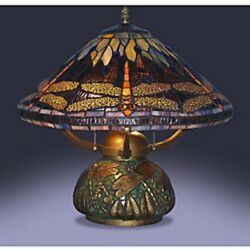 Table Lamps For Living Room Tiffany Style Dragonfly Mosaic Base Small Bedroom $157.95