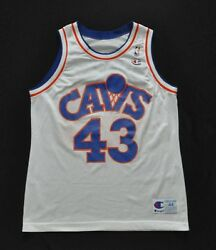 BRAD DAUGHTERY CLEVELAND CAVS CAVALIERS Champion Jersey White 44 L