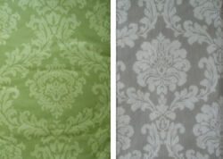 VARIOUS SIZES  COLORS -DAMASK-VINYL  FLANNEL BACKED-TABLECLOTHS-BY ELRENE