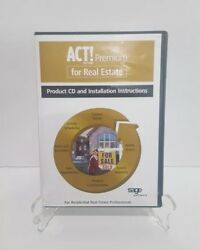 ACT! by Sage Premium for Real Estate 2006 Product CD & Installation Instructions