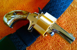 Butler Derringer holster. Gold color 3D printed. Butler  Colt