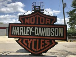 Huge Harley Davidson Dealer Building Sign Lighted Billboard Motorcycle WILL SHIP