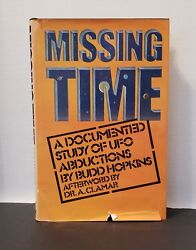 1981 MISSING TIME Budd Hopkins UFO Abductions Flying Saucers 1st Edition VG