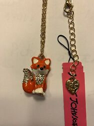 Betsey Johnson Necklace ORANGE Chihuahua Dog Crystals Adorable BJ50592 $19.99