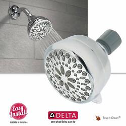 Delta Faucet 5 Function Shower Head High Pressure Swivel Touch-Clean Chrome