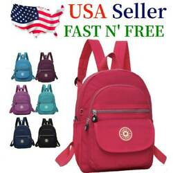 Waterproof Mini Backpack Women Purse Nylon Shoulder Rucksack Small Travel Bag $12.99