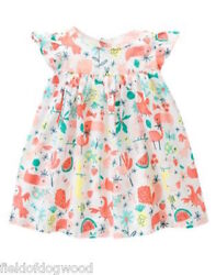 NWT Gymboree Rainforest Crawl Tropical Dress 3 6 12 18M Baby Girl