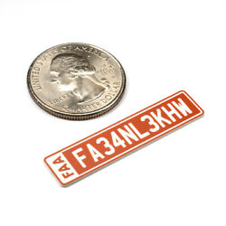 FAA DRONE REGISTRATION TAG STICKER ENGRAVED $7.99