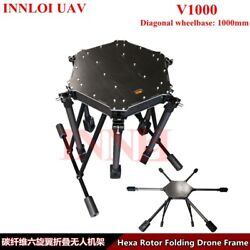 DIY 1000mm Drone Fame carbon fiber Hexacopter Multi Rotor For Agricultural drone $559.00