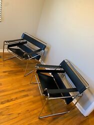 Vintage Marcel Breuer Wassily Knoll lounge chairs (pair)