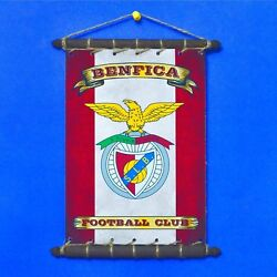 FC BENFICA Rare FLAG With LOGO SET 5in1: Banner Sticker Pennant Postcard Magnet