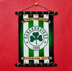 FC PANATHINAIKOS FLAG With LOGO SET 5in1: Banner Sticker Pennant Postcard Magnet