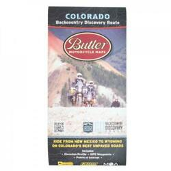 Butler Motorcycle Maps Colorado Backcountry Discover Route: Dual Sport Map COBDR