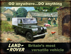 Landrover Go anywhere Do anything vintage retro signs repro wall art GBP 3.00