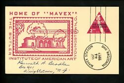 US Postal History Artists Art The Butler Institute 1957 Youngstown OH