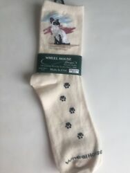Siamese Cat Designer Cat Breed Large Socks By Wheel House NEW With Tags $11.95