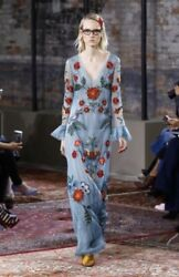 GUCCI Silk Organza Embroidered Gown IT40