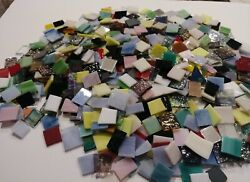 3 lbs. Mosaic Tiles Stained Glass Hand Cut Pieces various colors and textures
