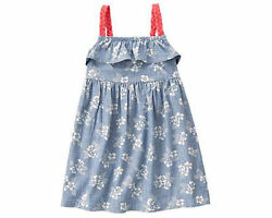 NWT Gymboree TROPICAL BREEZE Floral Chambray dress Girls SZ 4