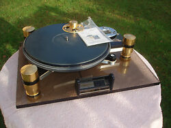 Oracle Delphi Turntable MKII.7 GoldBlack Double Subchassis + DIY Maglev Spindle