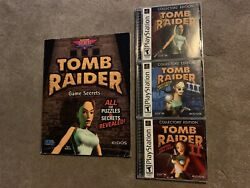 Complete Tomb Raider 1 2 3 Collectors' Edition Sony PlayStation 1 W Prima Guide