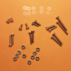 NEW 36 PC. S.S. CARTRIDGE MOUNTING SCREWS amp; HARDWARE FOR TURNTABLE HEADSHELLS $9.95