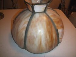 Antique Slag Glass 13quot; Lamp Shade For Repair Restoration Glass is Perfect $30.00