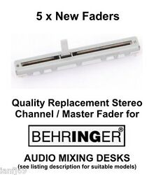 5 x BEHRINGER audio mixer desk replacement fader slider stereo spare part GBP 34.49