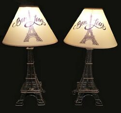 French lamps. Pair of Eiffel tower Paris lamps. Bonjour Metal tower bases $129.00
