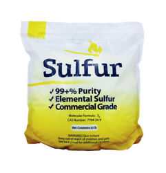 99.5% Pure Ground Sulfur Powder Commercial Flour Grade Elemental Milled $20.76