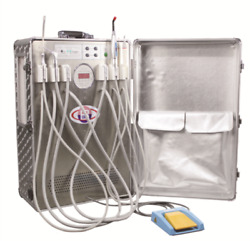 Portable Dental Turbine Unit Air Compressor Suction System Triplex Syringe--802
