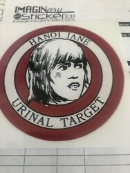Hanoi Janes Urinal Stickers Jane Fonda  5- PACK OF DECALS  Brand New $7.95