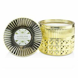 Capri Blue Gilded Muse Faceted Jar Candle - Exotic Blossom & Basil 312g Candles