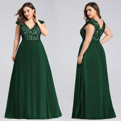 Ever-pretty US Long Plus Size V-neck Formal Evening Gown A-line Bridesmaid Dress $42.29