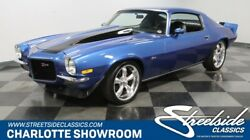 1971 Chevrolet Camaro Z28 Tribute classic vintage split bumper gen 2 blue black stripes cowl hood 20 inch wheels