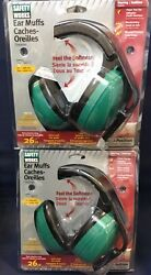 Lot of (2) Safety Works Multi-Position Earmuffs  Power Tool Use MowingTrimming
